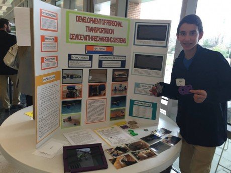"""""""Development of Personal Transportation Device with Recharging Systems"""" RYAN NEEDLE CREATIVE IDEA AWARD, 1st place winner, Montgomery County Science Fair 2016. RYAN won $100 CASH AWARD, a scholarship to pursue ADVANCED/BASIC SCIENTIFIC WRITING COURSE at ACHIEVERS LEAGUE USA, and a CERTIFICATE. We are proud of you RYAN!"""